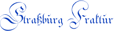 Strassburg Fraktur by Peter Wiegel
